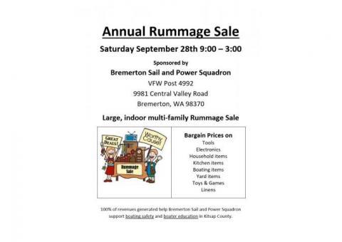 Bremerton Sail & Power Squadron Rummage Sale